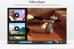 视频播放界面PSD素材