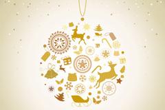 创意圣诞节装饰吊饰矢量素材