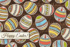 复活节手绘花纹彩蛋矢量素材