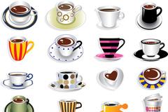 创意咖啡杯子设计矢量素材