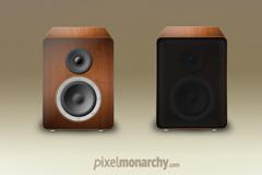 木质音响PSD素材