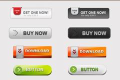 网页按钮PSD素材