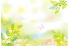 清新春季�L景矢量素材