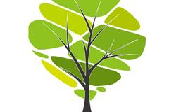 创意拼接树木矢量素材