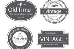 复古旧时光标签矢量素材