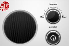 按钮音响元素PSD素材