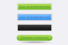 界面长条按钮PSD素材