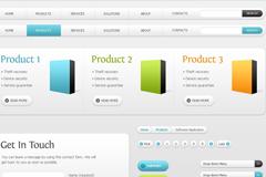 网页界面元素PSD素材