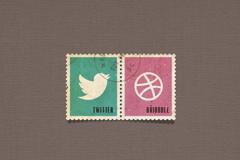 精致的邮票PSD素材