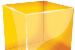 透明立方体PSD素材