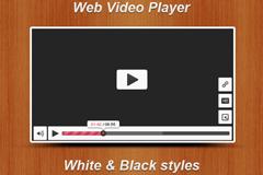 网页视频播放器PSD素材