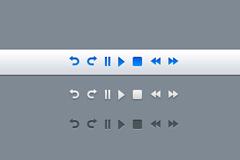控制按钮应用PSD素材