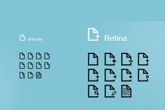 iphone文件系列图标PSD素材