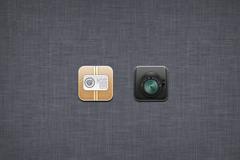 文件和照相机图标PSD素材