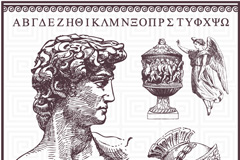 古罗马设计元素矢量素材