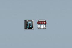 音乐和商店图标PSD素材