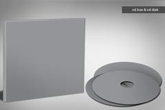 cd和cd盒模板PSD素材