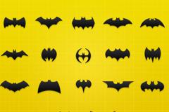 各种蝙蝠侠图标PSD素材