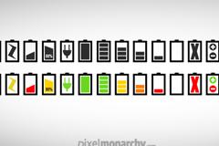 各种电池图标PSD素材