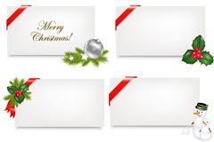 圣诞节装饰卡片矢量素材