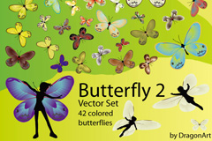 缤纷蝴蝶设计矢量素材