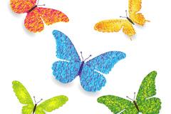 彩色蝴蝶设计矢量素材