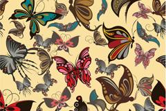 彩绘蝴蝶矢量素材