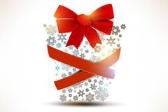 雪花圣诞礼包矢量素材