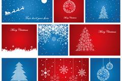 欢乐圣诞卡片矢量素材