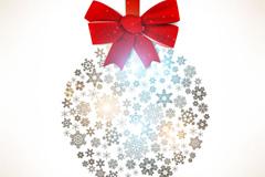 雪花圣诞吊球矢量素材