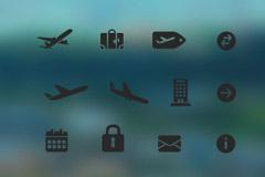 旅行图标PSD素材