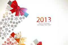 2013闪亮圣诞矢量素材