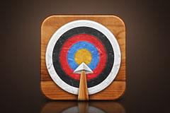 射箭箭靶图标PSD素材