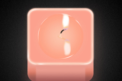 蜡烛图标PSD素材