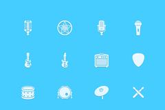 音乐类元素图标PSD素材