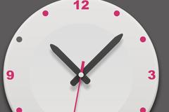 圆形时钟图标PSD素材
