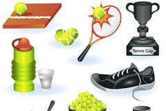 卡通网球设计元素矢量素材