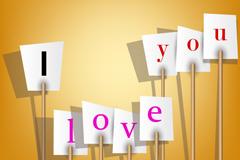 情人节白色纸板矢量素材