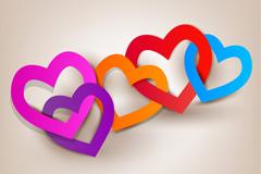 彩色爱心环矢量素材