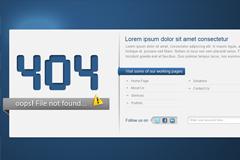 404错误界面PSD素材