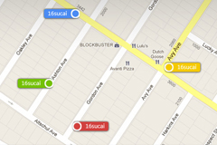 地图定位信息PSD素材