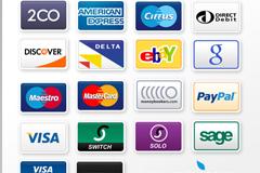 各种信用卡PSD素材