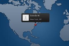 世界地图定位信息PSD素材