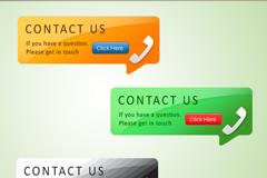 网页电话广告PSD素材