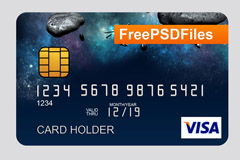 visa卡模板PSD素材