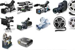 视频设备组建PSD素材