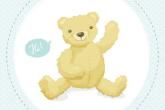 卡通泰迪熊矢量素材