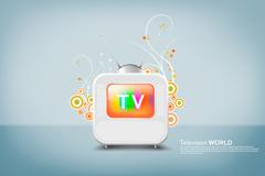 个性TV图标PSD素材
