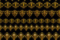 18款古典金色花纹PSD素材