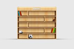木质书柜PSD素材